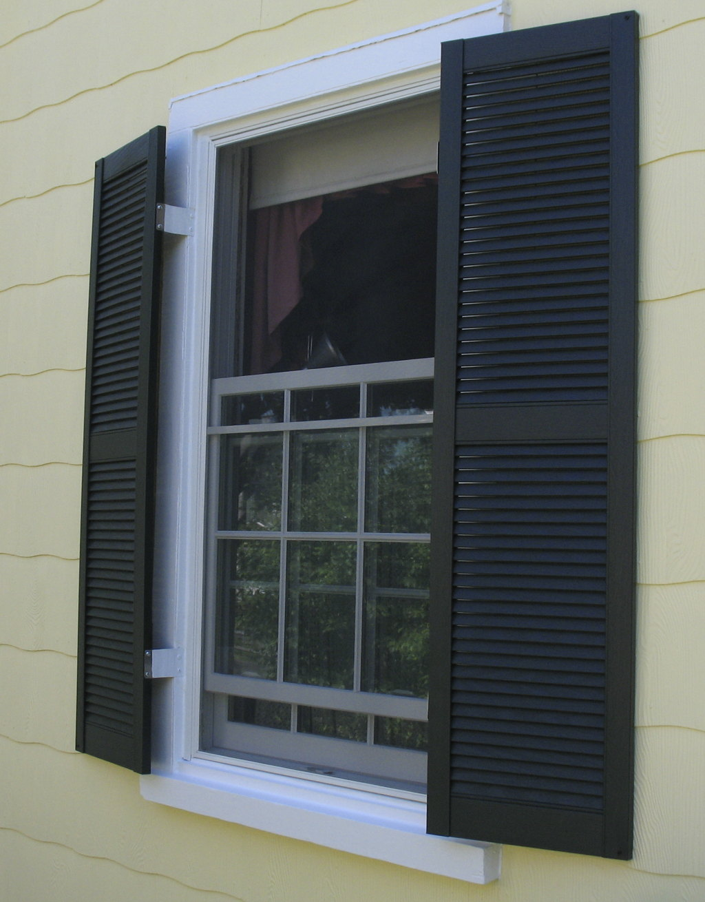 Replacement windows for Labor cost to install exterior shutters