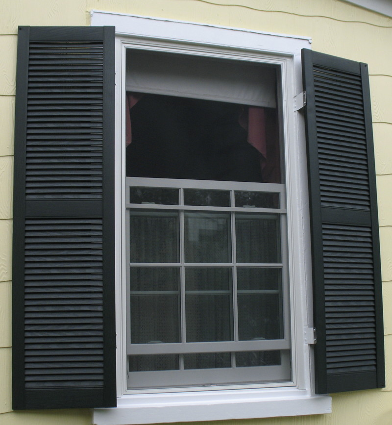 Replacement windows for Exterior window shutter repair